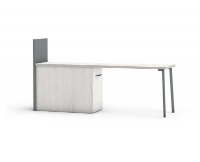 Bureau avec meuble amovible et étagère