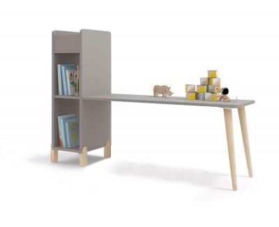 Table pour enfant avec étagère