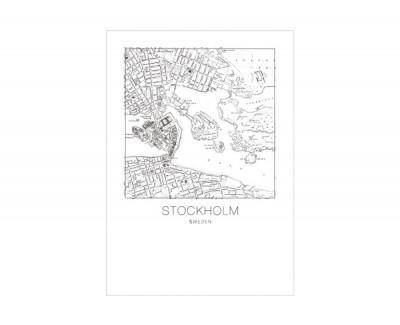 Cadre STOCKHOLM MAP