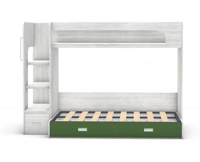 Lit superposé avec lit coffre et 3 tiroirs
