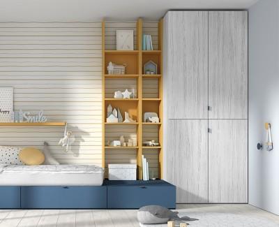 Meuble à étagères avec tiroir de rangement