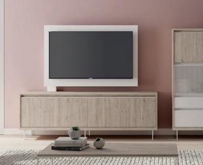 Meuble TV avec porte rabattable