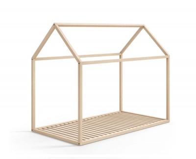 Lit maison en bois