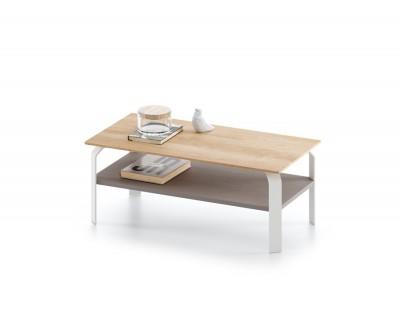 Table basse avec porte-revues et pieds métalliques