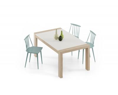 Table à manger avec 1 rallonge et pieds en bois