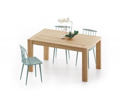Table à manger avec 2 rallonges et pieds en bois