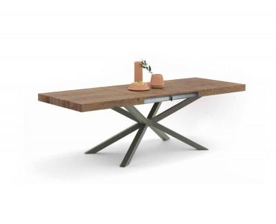"""Table à manger avec 2 rallonges et pieds """"W"""""""