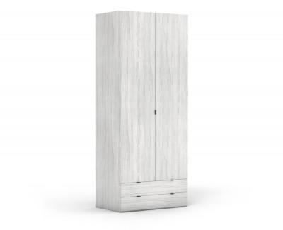 Armoire à deux portes battantes avec 2 tiroirs