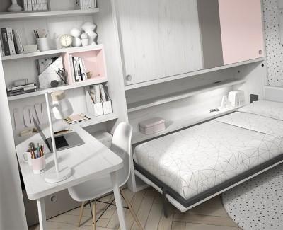 Bureau avec étagères et 2 tiroirs de rangement