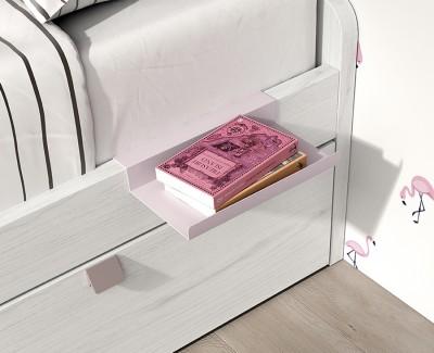 Chambre ado avec lit gigogne, bureau et armoire