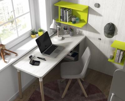 Chambre ado composée de lit superposé et bureau