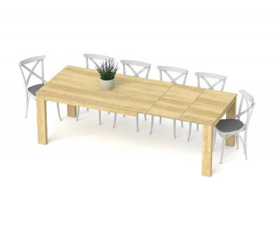 Table à manger avec 2 rallonges